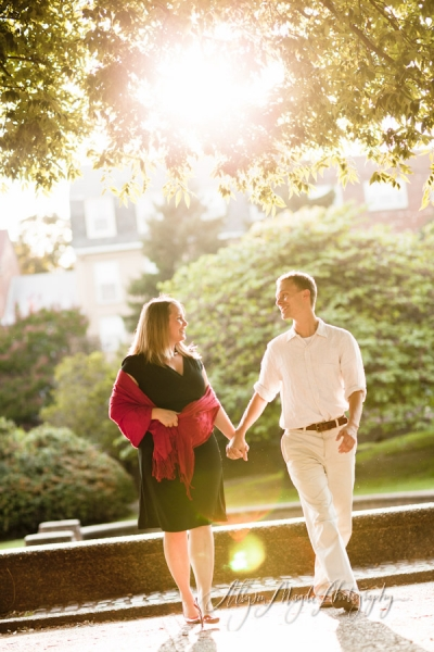 Amanda + Charles… sunkissed engagement portraits in Washington DC