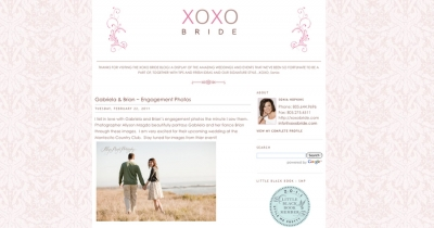 gabriela + brian featured on xoxo bride…