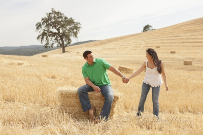 June and Joe, Engagement Photographs in Paso Robles Countryside