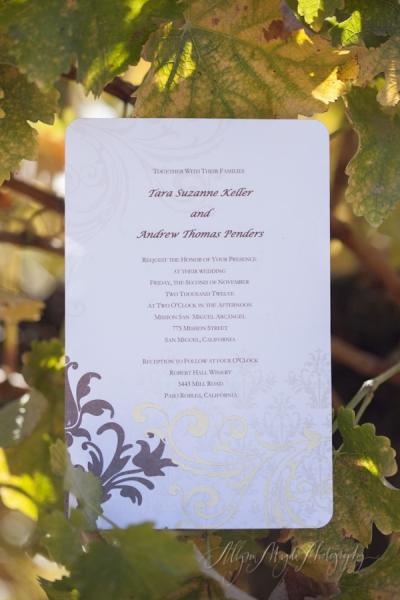 Tara & Andrew wedding Paso Robles, Ca