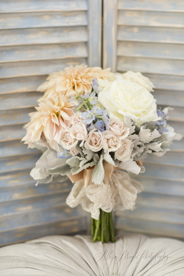 Dana Powers House wedding, adornments bridal bouquet