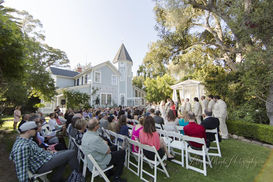 Dana Powers House wedding ceremony
