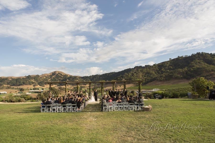 Lindsey And Joel Married Clos Lachance Winery Allyson