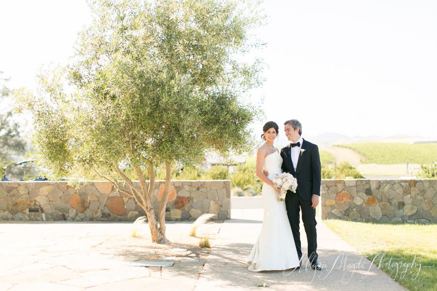 Carneros Inn, Napa Valley Wedding couple, bride and groom