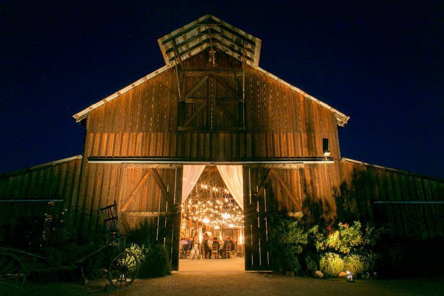 wedding reception at historic santa margarita ranch barn
