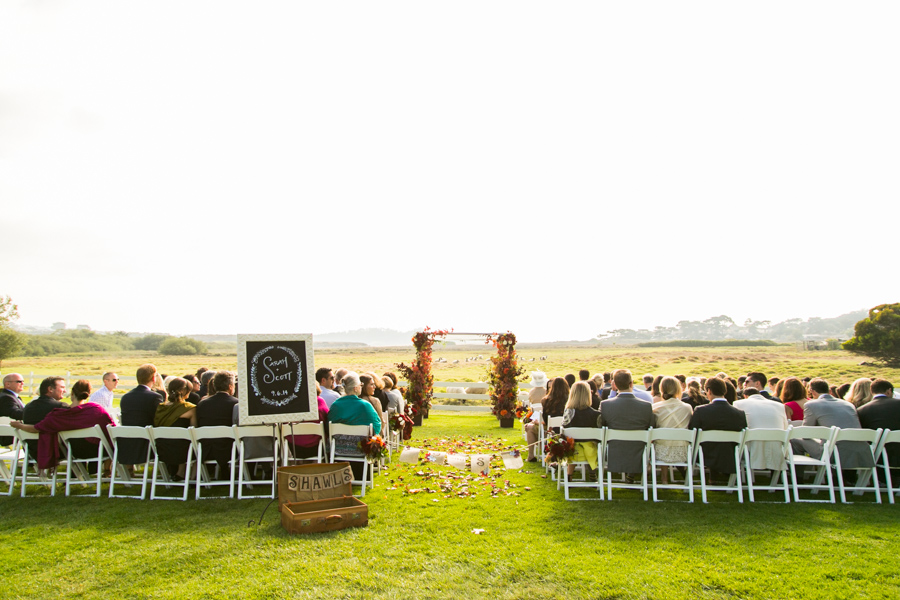 carmel mission ranch ceremony in fall