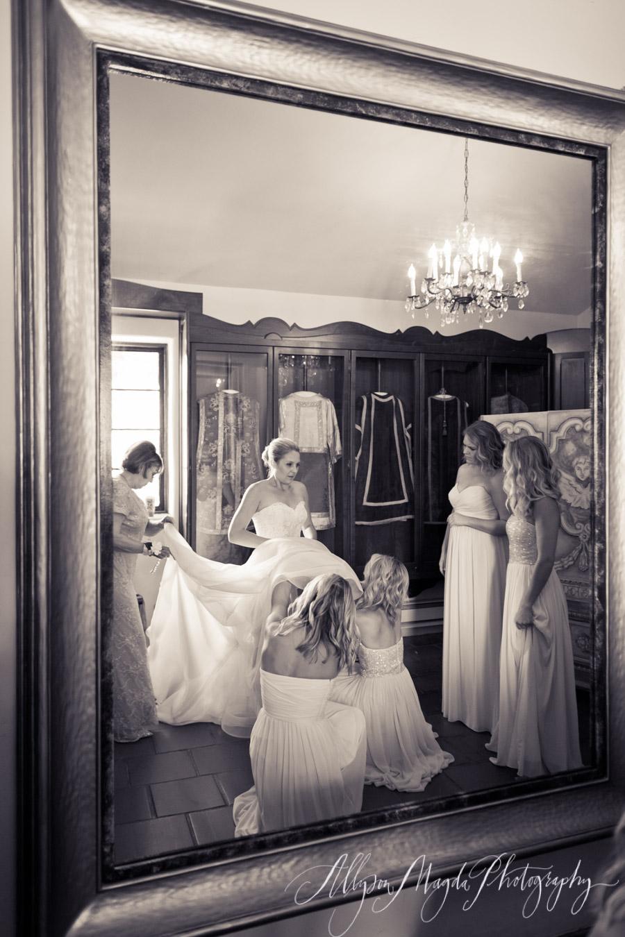 bridal room at carmel mission