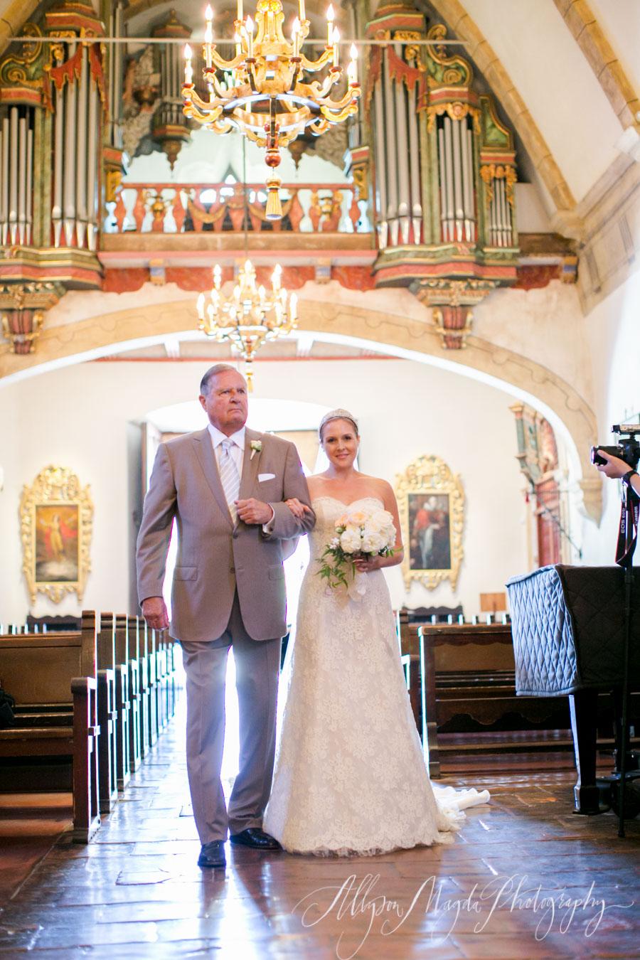 carmel mission wedding processional