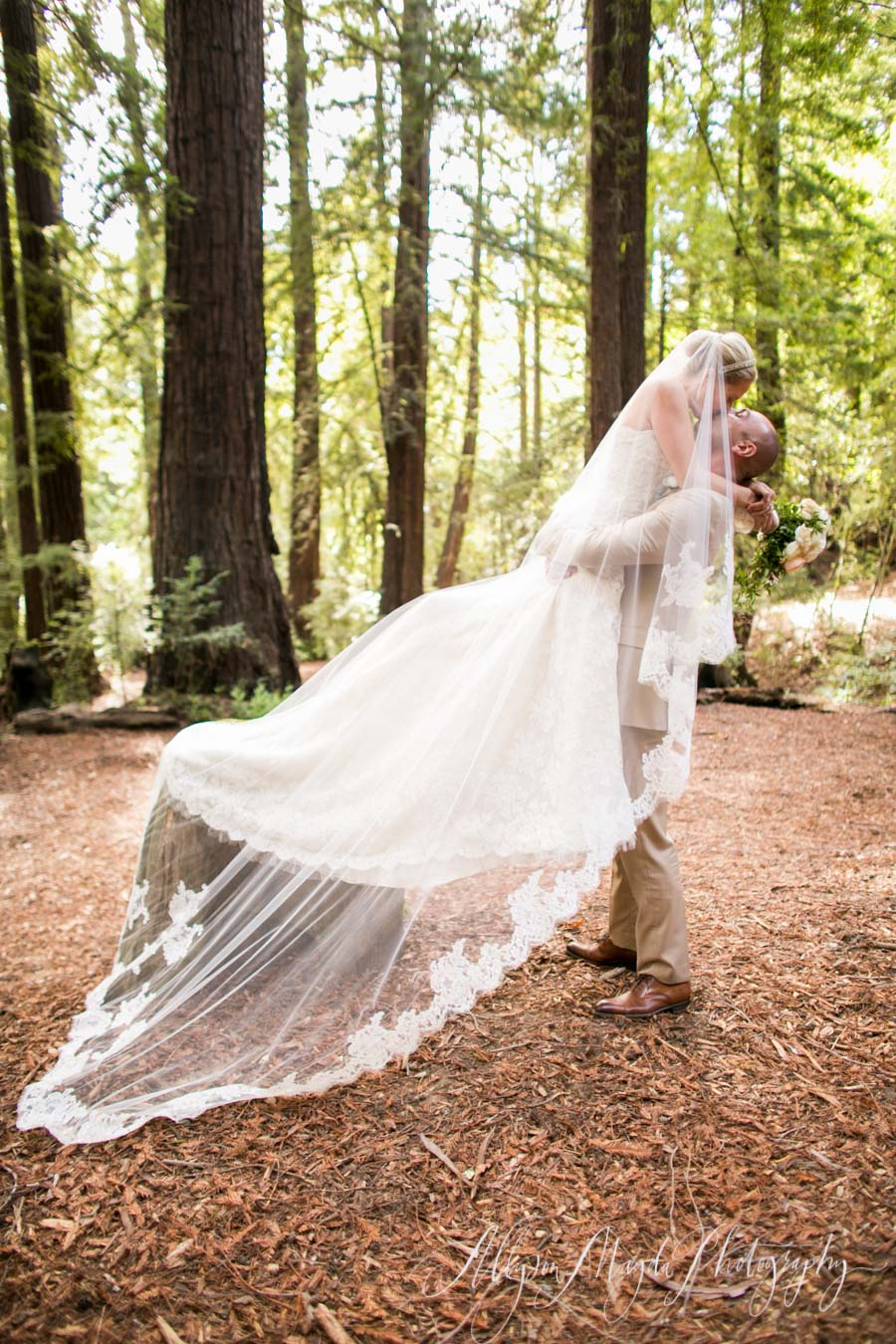 wedding in forest at ventana big sur