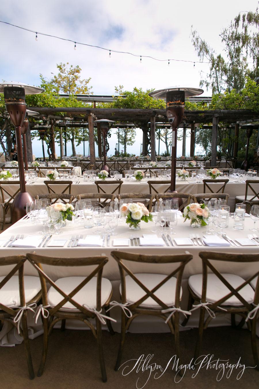ventana wedding reception big sur