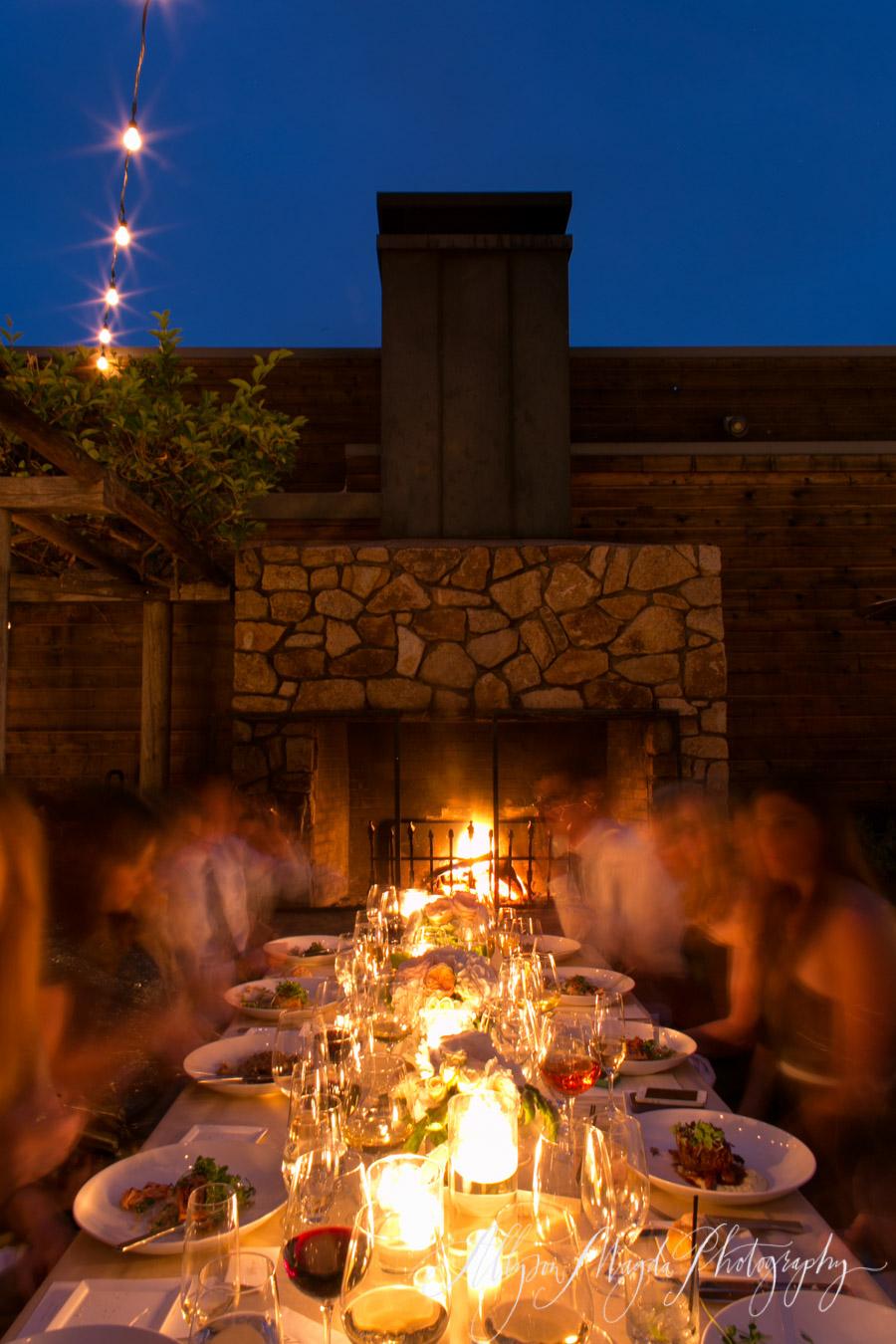 intimate ventana wedding reception big sur