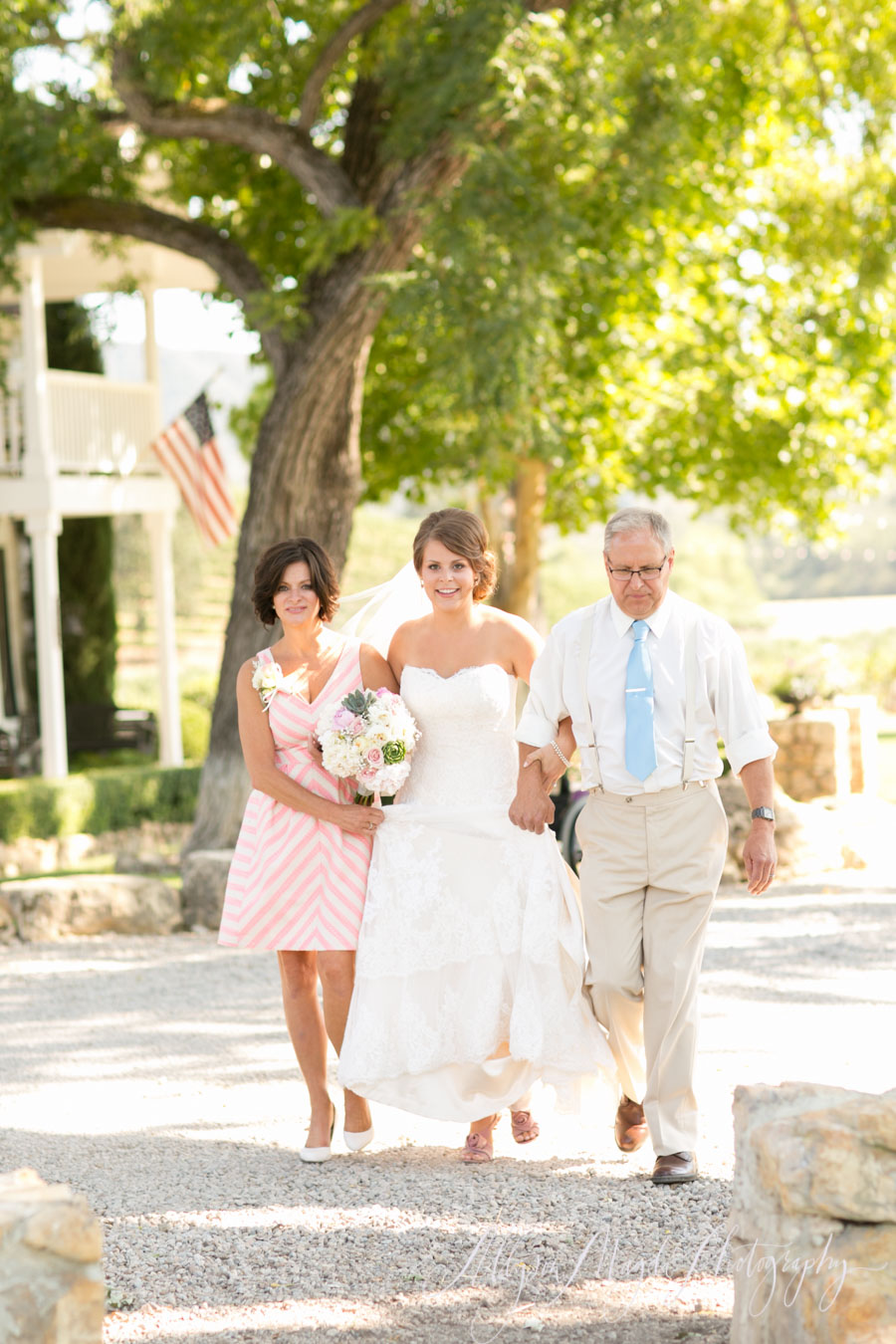 wedding ceremony processional, hammersky paso robles, ca