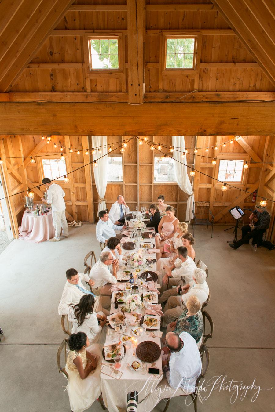 hammersky vineyards wedding reception