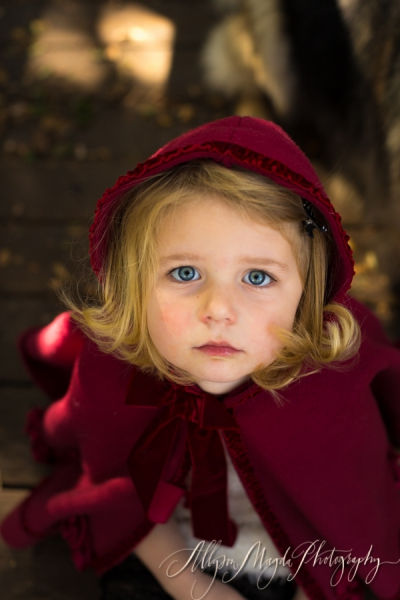Little Red Riding Hood portraits .. national adoption awareness month