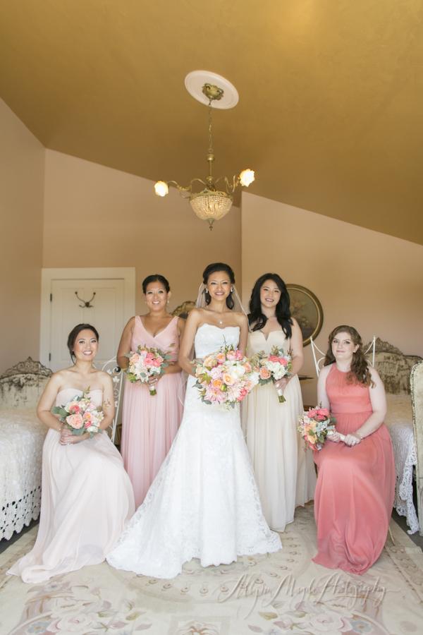 Dana Powers House Barn wedding, Nipomo, bridesmaids
