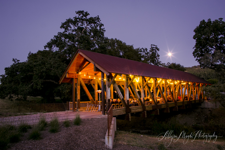 halter ranch bridge wedding dinner