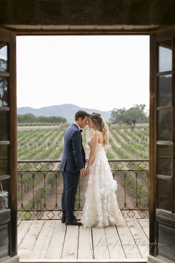 bride-and-groom-portrait-wedding-couple-in-vineyard-Sunstone-villa-winery-wedding