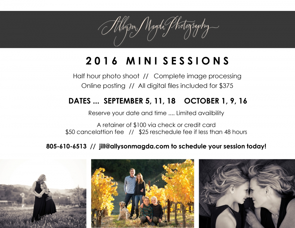 Paso Robles Photographer mini sessions