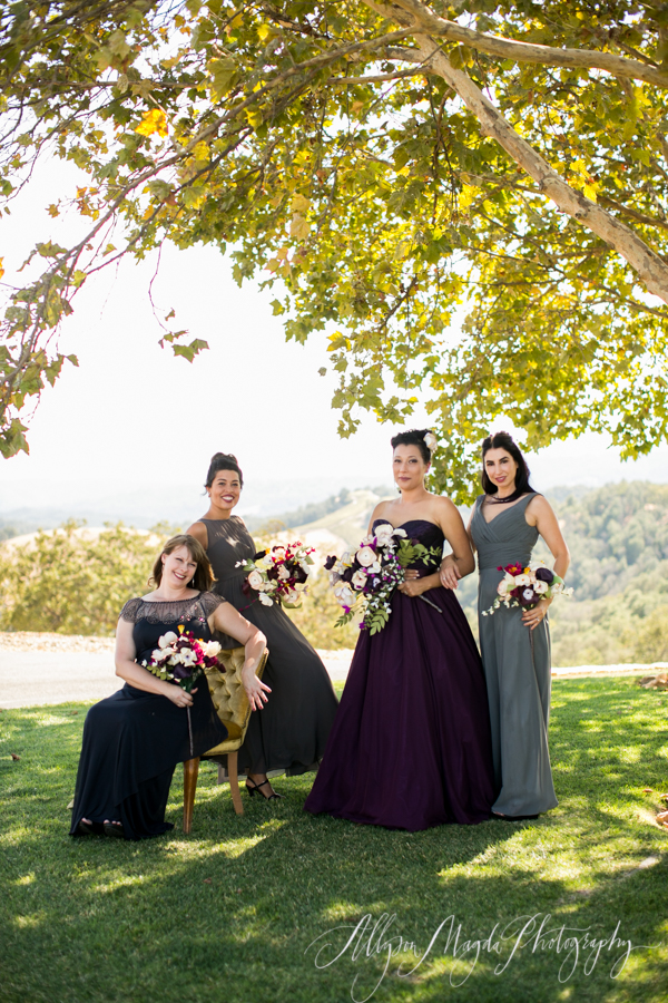 Lekai Ranch wedding bridesmaids