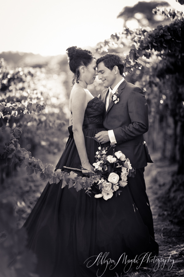 paso robles winery wedding photographer, bride and groom