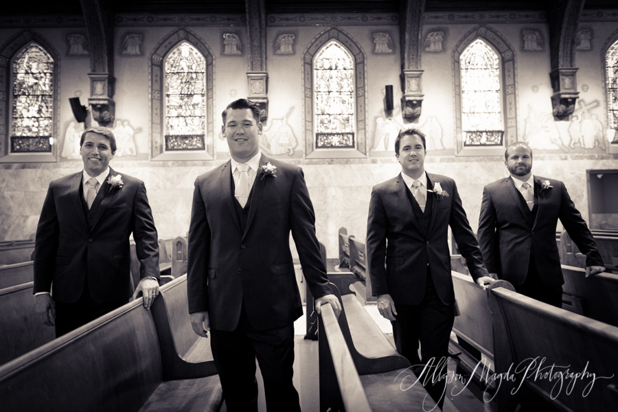 Long Beach wedding, church ceremony, groomsmen