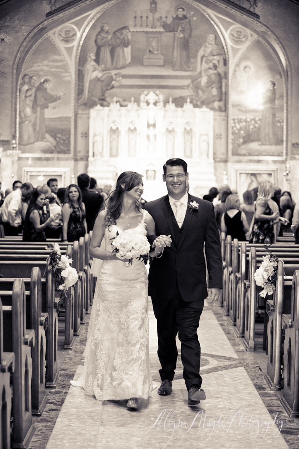 Long Beach wedding, church ceremony, bride and groom