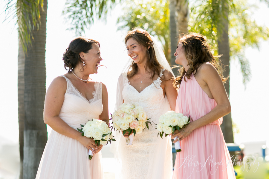 Long Beach wedding, bridesmaids