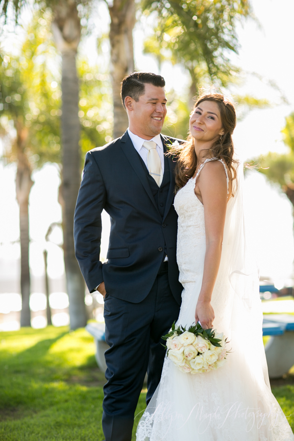 Long Beach wedding, bride and groom