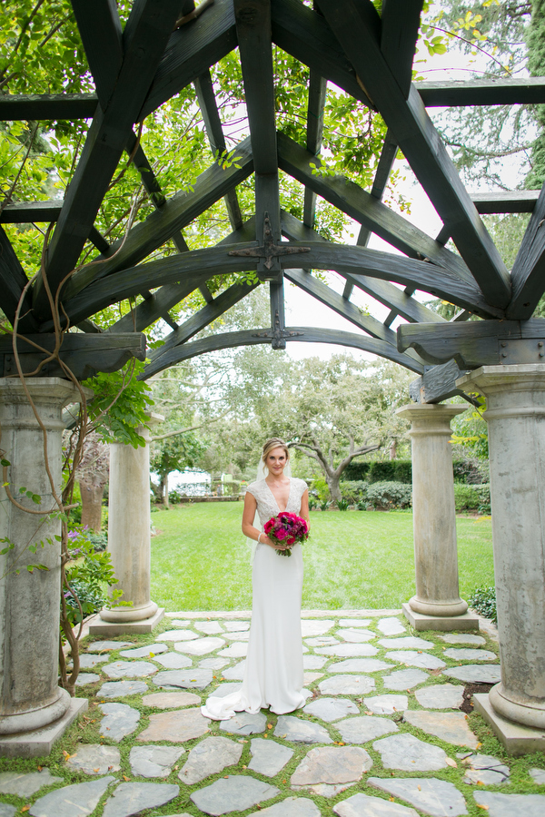 bride at montecito wedding