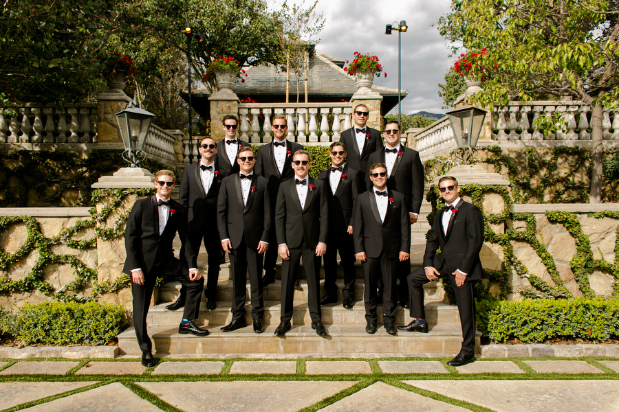 groomsmen montecito estate wedding