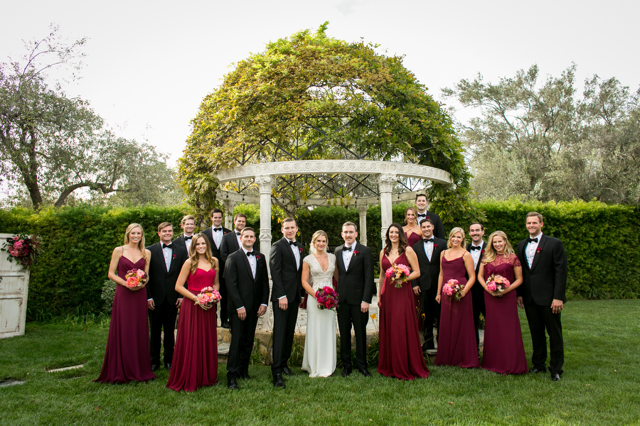 bridal party montecito wedding