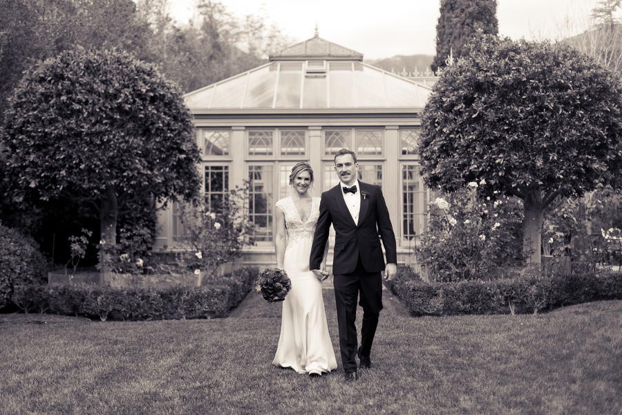 bride and groom, montecito private estate