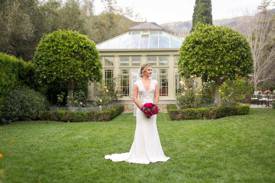stunning bride at montecito private estate