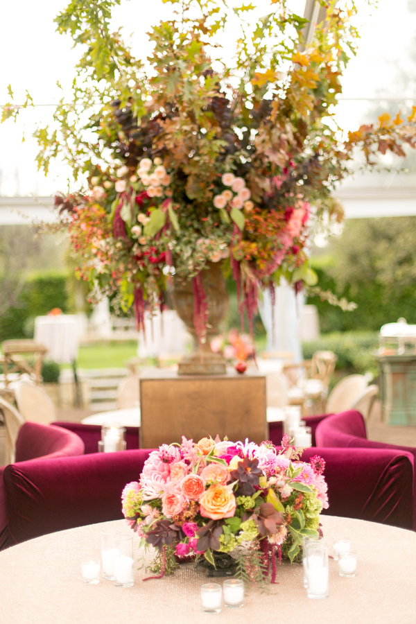 wedding reception at montecito private estate