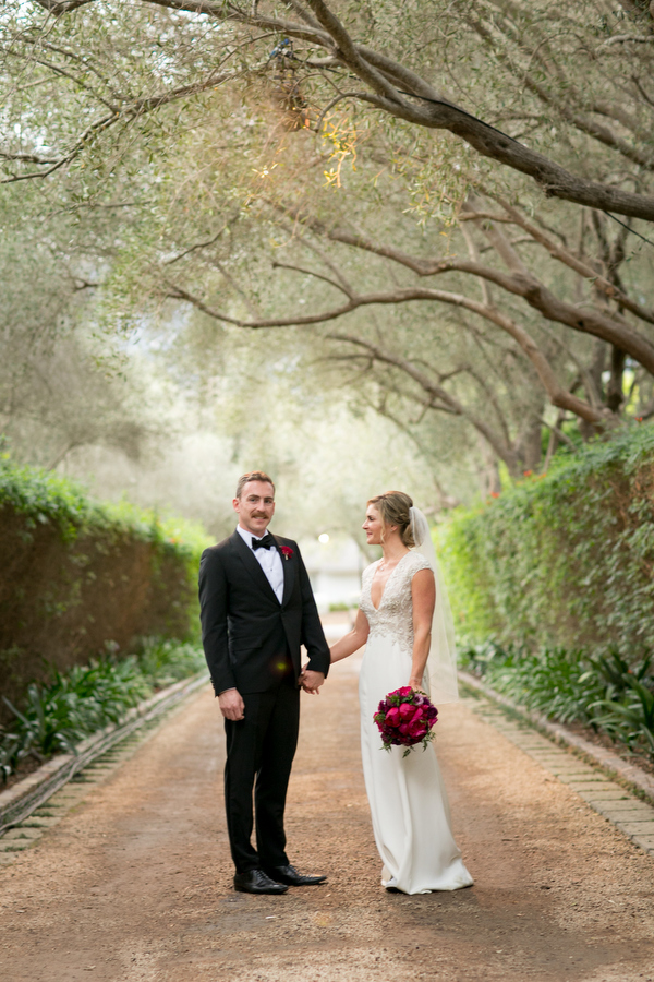 bride and groom montecito private estate
