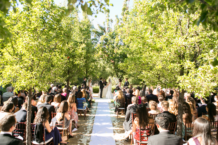crystal springs estate wedding, st helena, ceremony