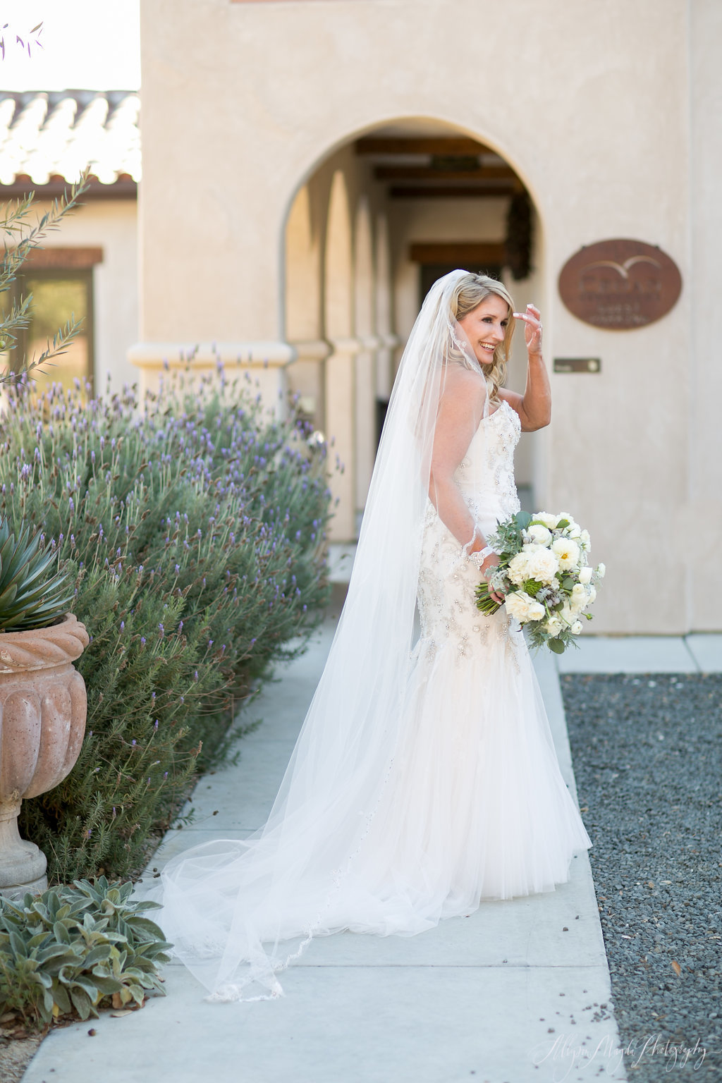 bride at Croad Winery