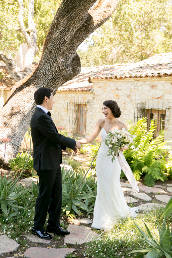 Holman Ranch Wedding, Carmel Valley, bride and groom first looks