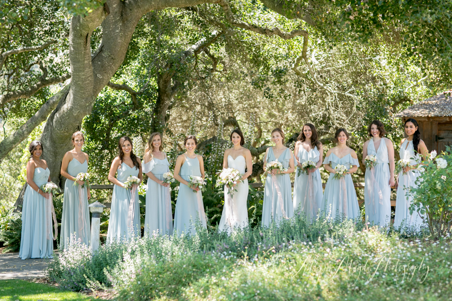 Holman Ranch Wedding, Carmel Valley, bridesmaids