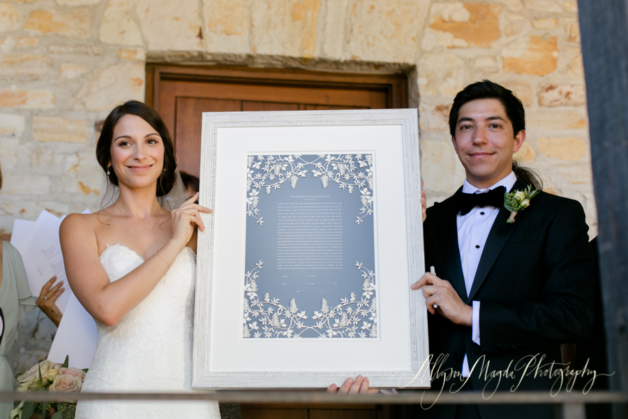 Ketubah signing, Holman Ranch Wedding, Carmel Valley