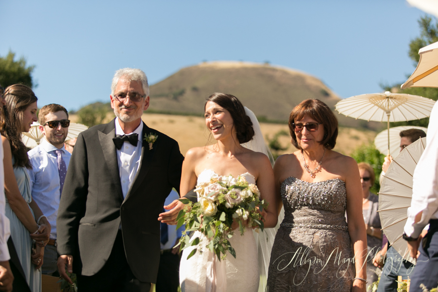 Holman Ranch Wedding ceremony, Carmel Valley, processional