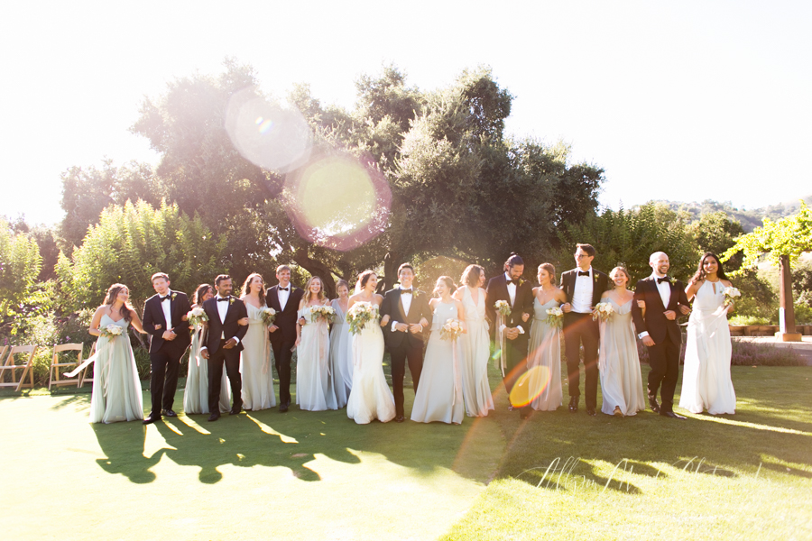 Holman Ranch Wedding, wedding party