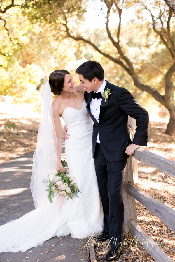 Bride and groom just married at Holman Ranch, Carmel