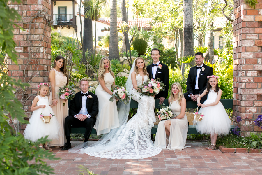 Belmond El Encanto wedding, santa barbara, photographer, wedding party