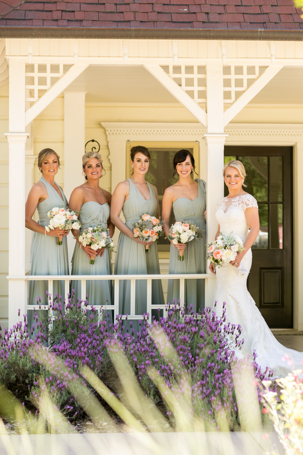 bridesmaids at halter ranch winery, paso robles