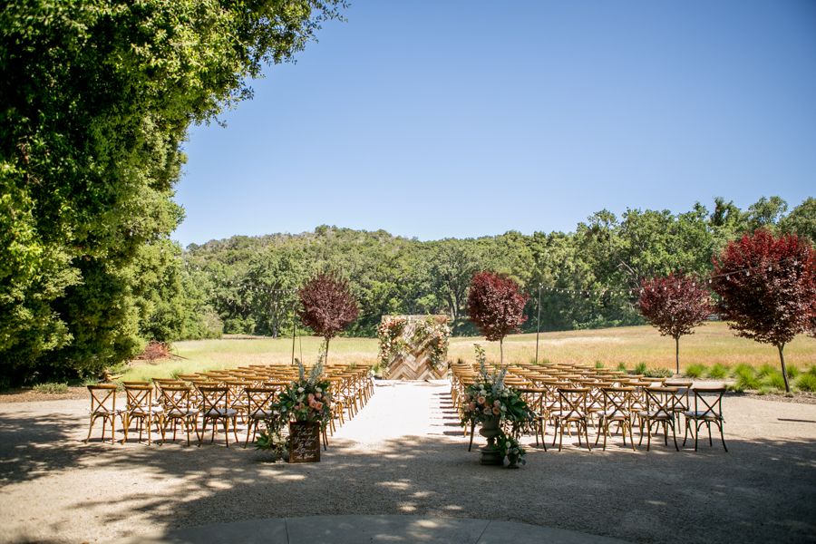 wedding ceremony at halter ranch winery, paso robles