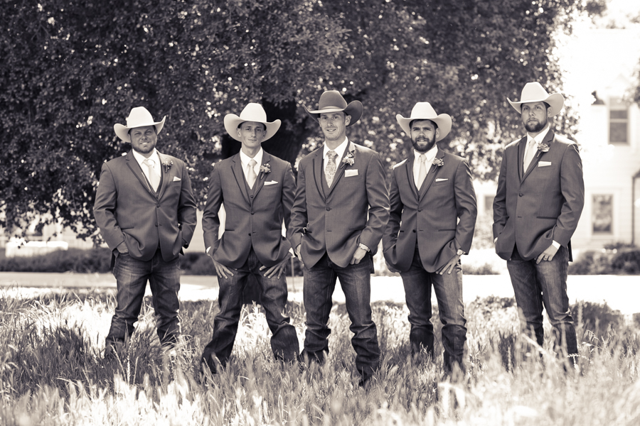 groomsmen at halter ranch winery, paso robles