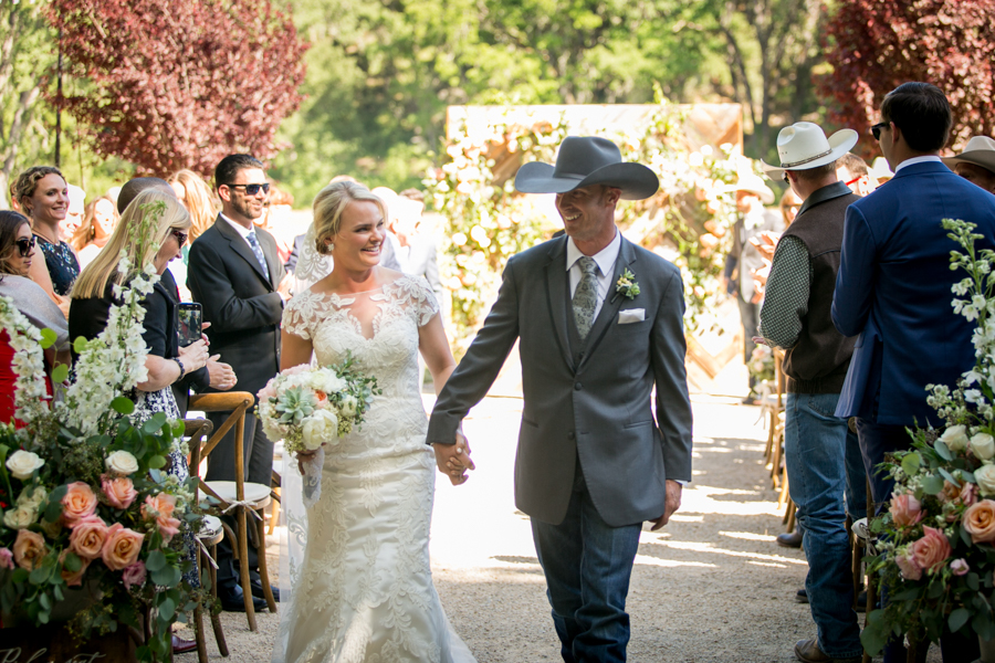 wedding ceremony halter ranch