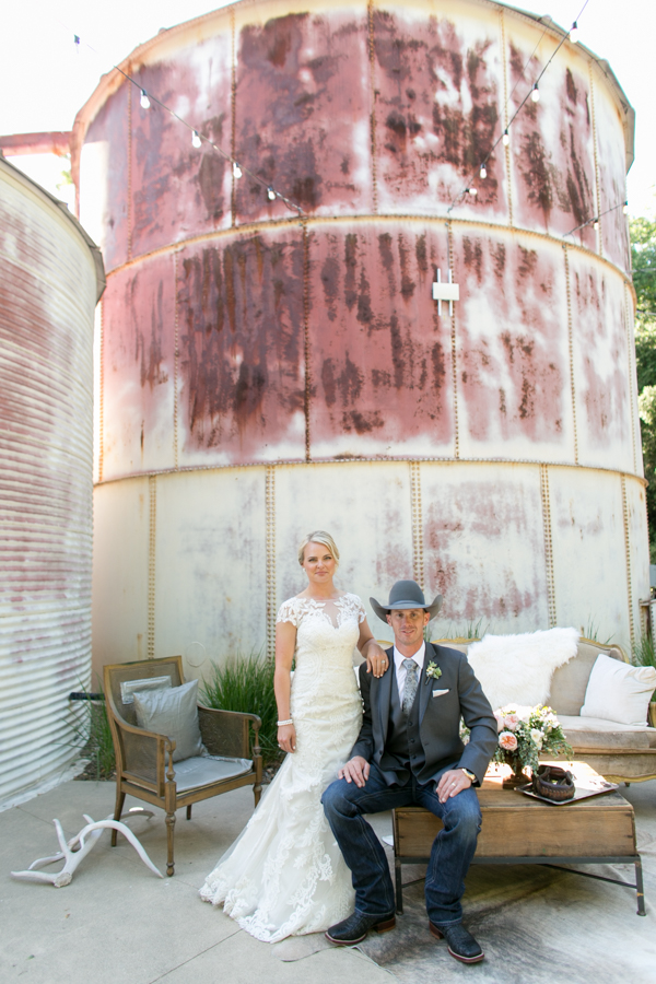 bride and groom at halter ranch wedding, Paso Robles