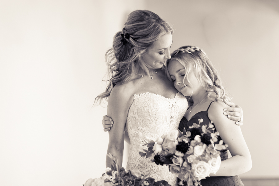 bride and daughter, ojai valley inn wedding